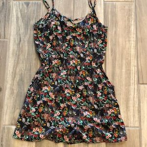 Black Divided H&M Floral Romper